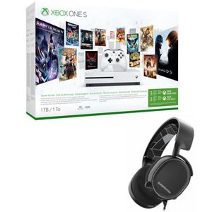 CONSOLE XBOX ONE NOUV. Xbox One S 1 To Game Pass + Casque Steel Series