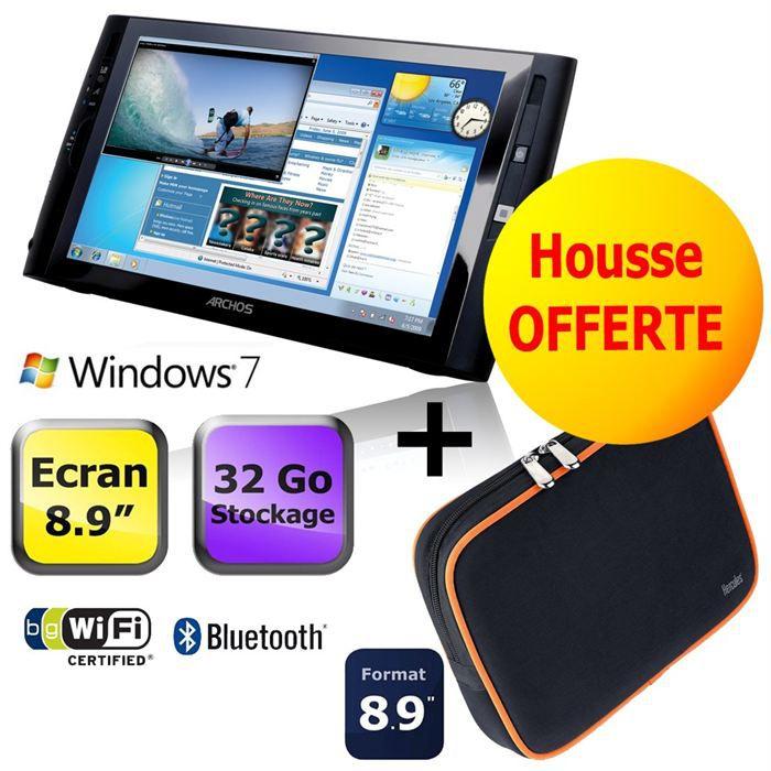 """TABLETTE TACTILE Archos 9 Wifi 32 Go + Housse Nbag 8.9"""""""