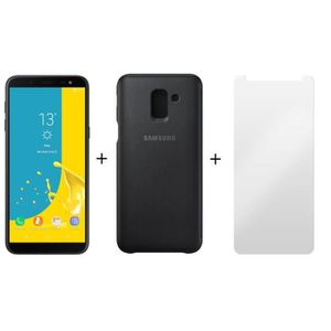 SMARTPHONE Samsung Galaxy J6 Noir + Film Ecran + Etui de prot
