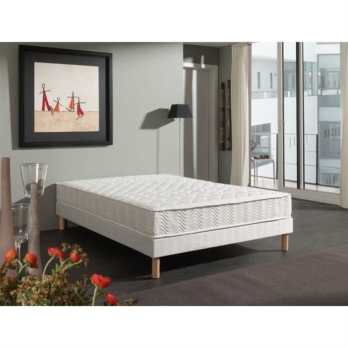 ensemble matelas sommier 160x200 gallery of lit matelas et sommier lit matelas sommier x. Black Bedroom Furniture Sets. Home Design Ideas