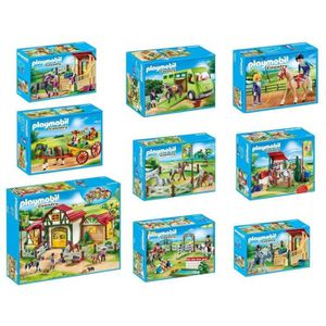 UNIVERS MINIATURE PLAYMOBIL - Pack Country - Le Centre Equestre - Lo