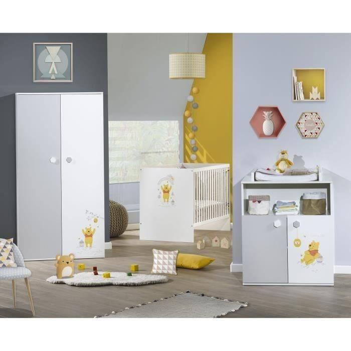 WINNIE Chambre Bébé Complète : Lit 60x120 cm + Armoir + Commode à ...