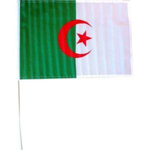 DRAPEAU - BANDEROLE CHRONOSPORT Drapeau Algérie avec tige - 30 x 45 cm