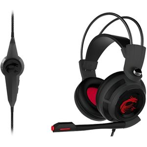 CASQUE AVEC MICROPHONE MSI Micro-Casque Gamer DS502 GAMING Filaire - Rétr