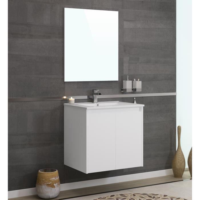 Meuble salle de bain avec vasque 60cm - Achat / Vente pas cher