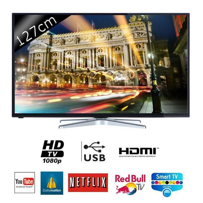 continental edison dled50sx3 smart tv led full hd 127 cm 50 t l viseur led avis et prix. Black Bedroom Furniture Sets. Home Design Ideas
