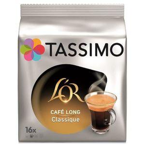 CAFÉ - CHICORÉE TASSIMO L'OR Café long classique - 5 paquets de 16