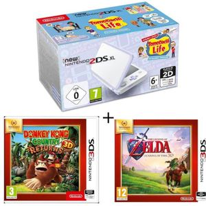 CONSOLE NEW 2DS XL New 2DS XL Lavande/Blanc + Donkey Kong Country Ret