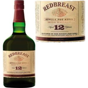 WHISKY BOURBON SCOTCH Redbreast 12 ans - Single Pot Still Irish Whiskey