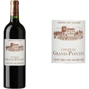 VIN ROUGE Château Grand Pontet Grand Vin de Bordeaux Saint E