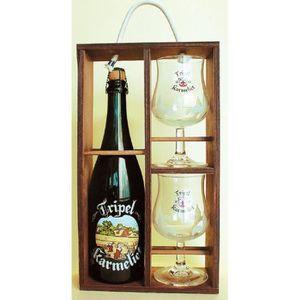 BIÈRE BRASSERIE BOSTEELS Coffret bois Karmeliet Bière Bl