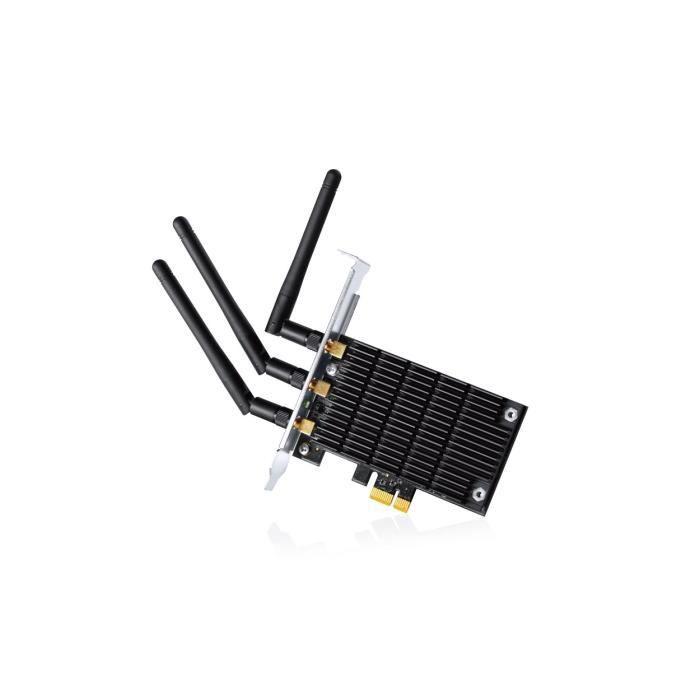 CARTE RÉSEAU  TP-LINK  Adaptateur PCIe Wi-Fi double bande AC1900