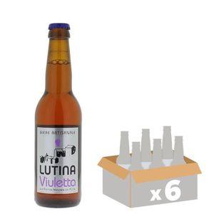 BIÈRE LUTINA VIULETTA Bière Blonde - 33 cl x6 - 6 %