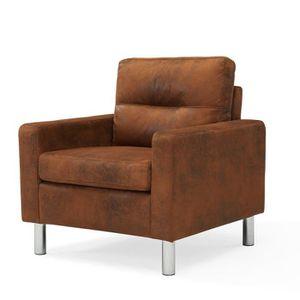 elena fauteuil en microfibre marron l 77 x p 74 Résultat Supérieur 50 Inspirant Fauteuil En Microfibre Galerie 2017 Hjr2