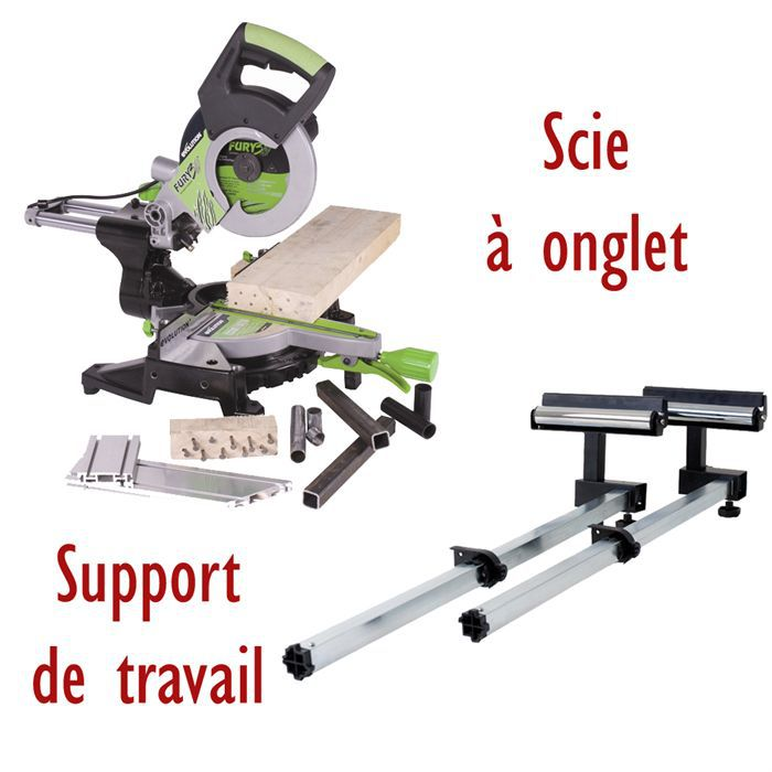 evolution scie à onglet radiale fury3xl & support - achat / vente