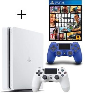 CONSOLE PS4 Pack PS4 500 Go Blanche + Manette PS4 DualShock 4