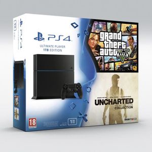 CONSOLE PS4 PS4 + Uncharted The Nathan Drake Collection + GTA