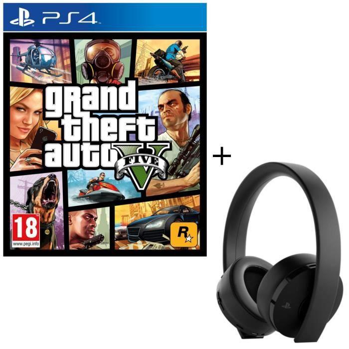 JEU PS4 Casque Sans Fil Gold Sony Virtual Surround Sound 7