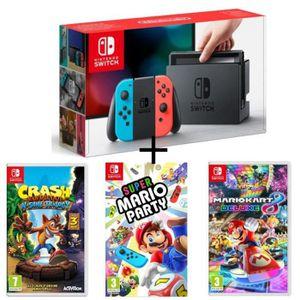 CONSOLE NINTENDO SWITCH Pack Nintendo Switch Néon + Crash Bandicoot N. San
