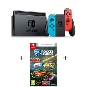 CONSOLE NINTENDO SWITCH Pack Nintendo Switch Néon + jeu Rocket League Ed C