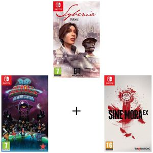 NINTENDO SWITCH Pack de 3 jeux Switch : Syberia 1 + 88 Heroes + Si