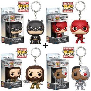 FIGURINE - PERSONNAGE Pack de 4 porte-clés Pop! Justice League