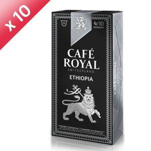 CAFÉ - CHICORÉE Lot de 100 capsules Café Royal Origine Ethiopie Ca
