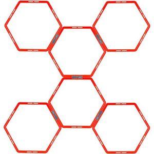 BALLON SUISSE-GYM BALL AVENTO Grille d'agilité hexagonale 6 pièces