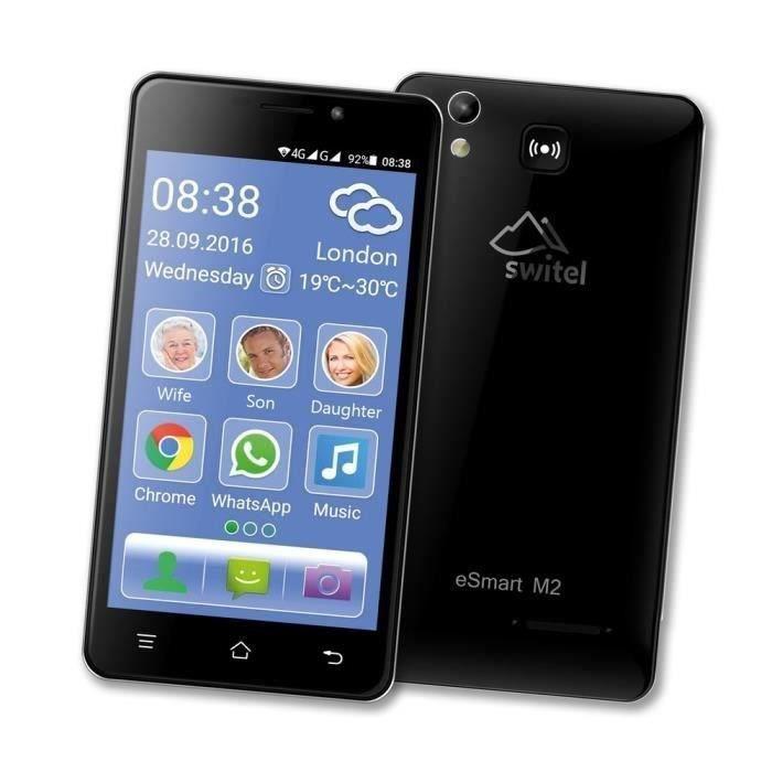 Téléphone portable Smartphone sénior 4G SWITEL eSmart M2 - Sonnerie e