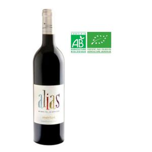 VIN ROUGE Alias 2015 Merlot - Vin de France rouge BIO