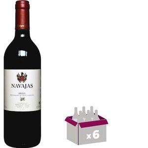 VIN ROUGE NAVAJAS Rioja Tinto Vin d'Espagne - Rouge75 cl x 6