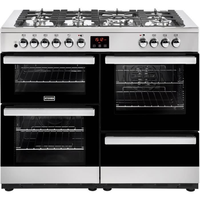 STOVES PCITY110DFTSS-Cuisinière table de cuisson gaz-7 foyers-Four ...