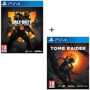 JEU PS4 Pack 2 jeux PS4 : Call of Duty Black OPS 4 + Shado