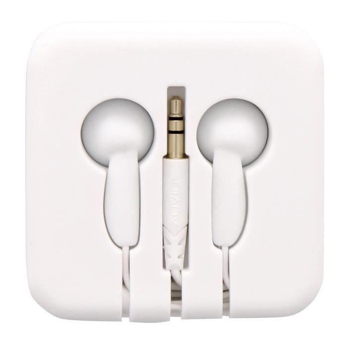 Tnb Pocket Ecouteurs Boutons Avec Étui Enrouleur En Silicone - Blanc