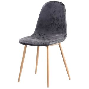 CHAISE Chaise de salle à manger pieds en métal imitation