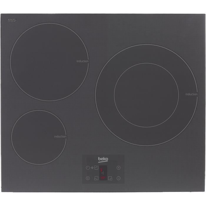 beko hii63402atzg table de cuisson induction 3 foyers 7200w l electrom nager. Black Bedroom Furniture Sets. Home Design Ideas