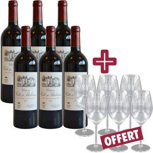 VIN ROUGE Château Côte de Baleau 2011 - Vin Rouge avec 6 Ver