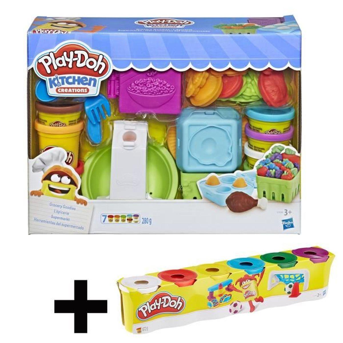 Play Doh Kitchen Creations Lépicerie 6 Pots De Pâte à Modeler