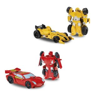 FIGURINE - PERSONNAGE TRANSFORMERS Rescue Bots - SIDESWIPE ou BUMBLEBEE