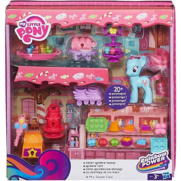 my little pony playset pinkie pie rainbow cafe achat vente figurine personnage cdiscount. Black Bedroom Furniture Sets. Home Design Ideas