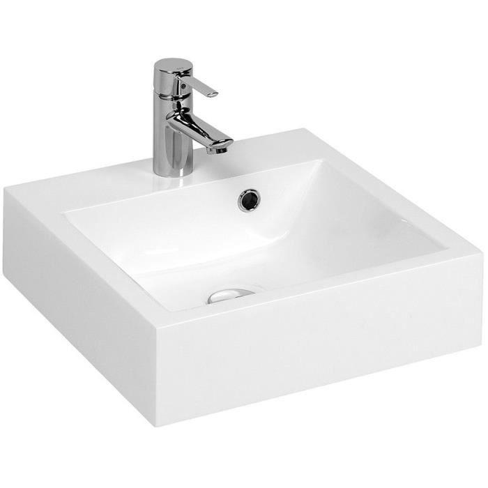 LAVABO - VASQUE CREAZUR Vasque cubique résine Blanc