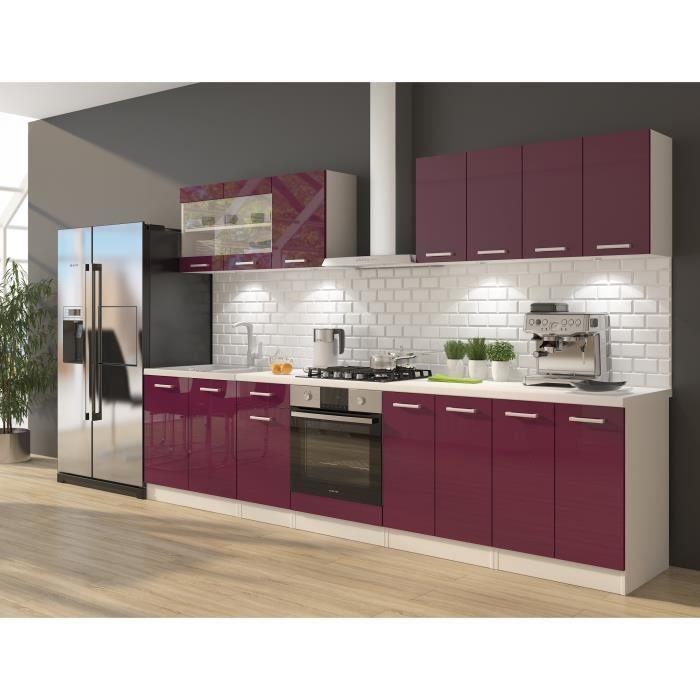 Ultra cuisine compl te avec meuble four et plan de travail - Dimensions plan de travail cuisine ...