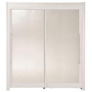 ARMOIRE DE CHAMBRE GALA Rangement coulissant contemporain blanc mat -