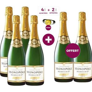 CHAMPAGNE Champagne Heidsieck & Co Monopole 75cl x6