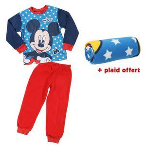362bd7a06f857 MICKEY Pyjama polaire + Plaid offert Garçon Bleu et rouge - Achat ...