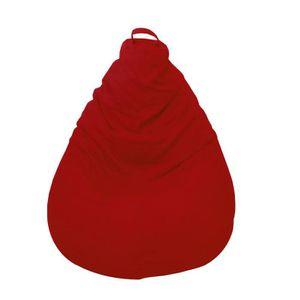 POUF - POIRE Poire Coton SALSA Rouge 80x120 cm