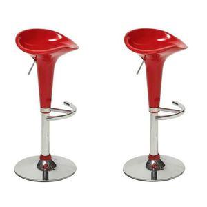 tabouret de bar rouge achat vente tabouret de bar rouge pas cher cdiscount. Black Bedroom Furniture Sets. Home Design Ideas