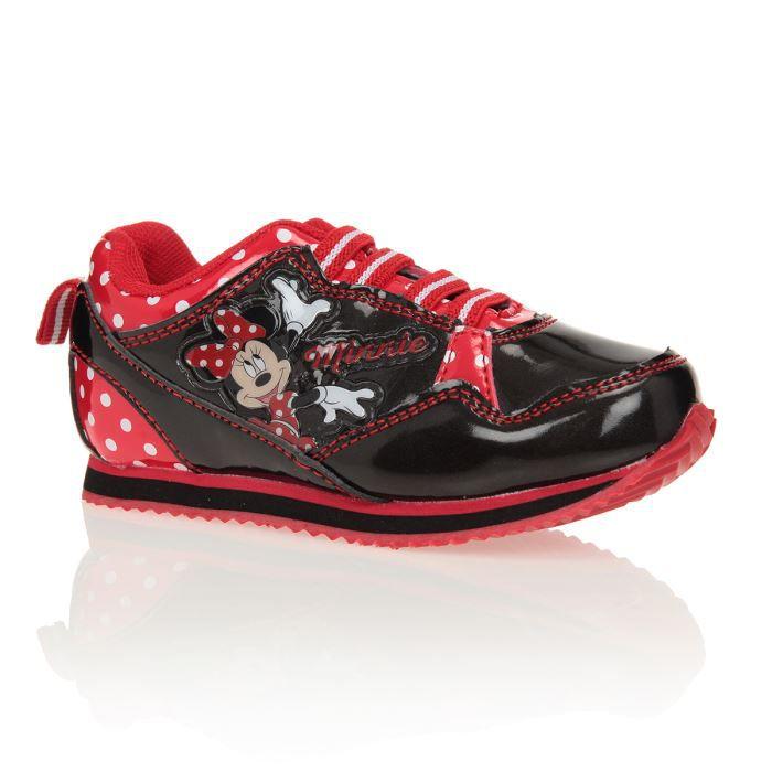 c5f913561ca68 MINNIE Baskets Chaussures Enfant Fille Noir et rouge - Achat   Vente ...