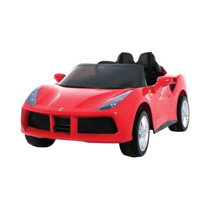 e road voiture electrique enfant type ferrari roues gommes si ge en cuir et couleur. Black Bedroom Furniture Sets. Home Design Ideas