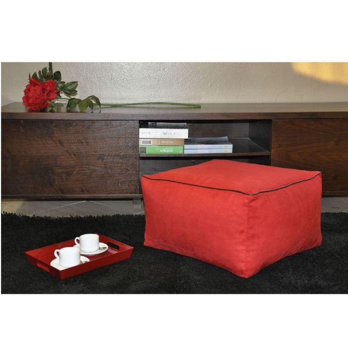 pouf coussin de sol carre rouge achat vente pouf poire cdiscount. Black Bedroom Furniture Sets. Home Design Ideas